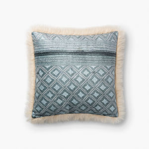 Ivory Multicolor Acrylic and Polyester 18 In. x 18 In. Throw Pillow Cover
