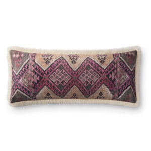 Ivory Multicolor 13 In. x 35 In. Throw Pillow Cover