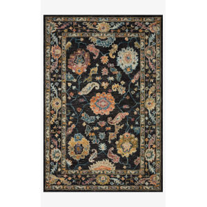 Padma Black and Multicolor Runner: 2 Ft. 6 In. x 9 Ft. 9 In.