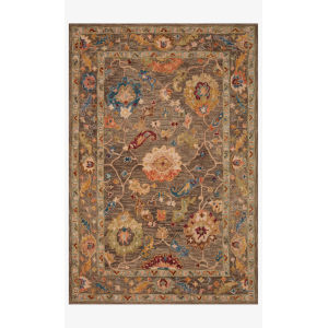 Padma Charcoal and Multicolor Rectangle: 5 Ft. x 7 Ft. 6 In. Rug