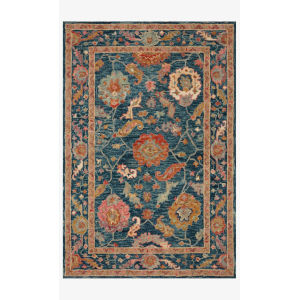 Padma Marine and Multicolor Rectangle: 7 Ft. 9 In. x 9 Ft. 9 In. Rug