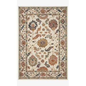 Padma White and Multicolor Rectangle: 7 Ft. 9 In. x 9 Ft. 9 In. Rug