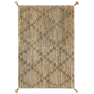 Playa Black and Natural 91-Inch Rug