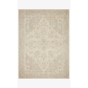Priya Ivory and Gray Rectangle: 7 Ft. 9 In. x 9 Ft. 9 In. Rug
