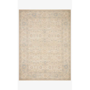Priya Natural and Blue Rectangle: 5 Ft. x 7 Ft. 6 In. Rug