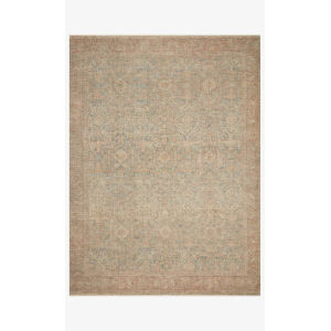 Priya Denim and Rust Rectangle: 3 Ft. 6 In. x 5 Ft. 6 In. Rug