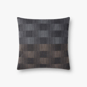 Charcoal 18 In. x 18 In. Throw Pillow Cover with Poly Insert