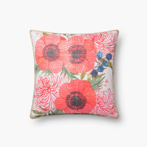 Multicolor Polyester 18 In. x 18 In. Throw Pillow Cover with Poly Insert