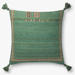 Green 22 In. x 22 In. Throw Pillow Cover with Poly Insert