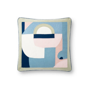 Blue 18 x 18 In. Pillow Cover with Poly Insert