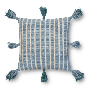 Blue and Teal 18 x 18 In. Pillow Cover with Poly Insert