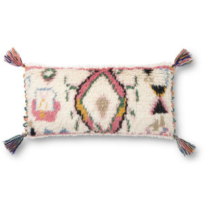 Multicolor 12 x 27 In. Pillow Cover with Poly Insert