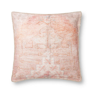 Coral 22In. x 22In. Pillow Cover with Poly Fill
