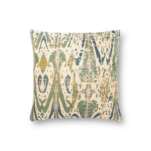 Multicolor 18In. x 18In. Pillow Cover with Poly Fill