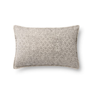 Beige 13In. x 21In. Pillow Cover with Poly Fill