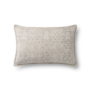 Gray 13In. x 21In. Pillow Cover with Poly Fill