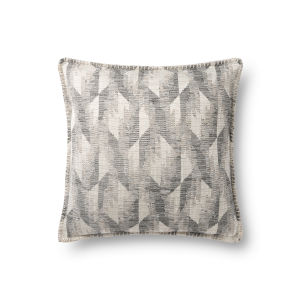 Gray 18In. x 18In. Pillow Cover with Poly Fill
