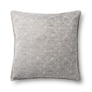 Gray 22In. x 22In. Pillow Cover with Poly Fill