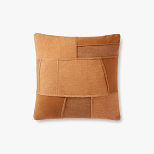 Spice Patchwork Dip Dyed French Seamed Throw Pillow