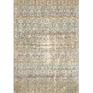 Revere Grey with Multicolor Rectangle: 2 Ft. x 3 Ft. 2 In. Rug