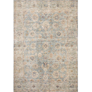 Revere Light Blue with Multicolor Rectangle: 7 Ft. 1 x 10 Ft. Rug