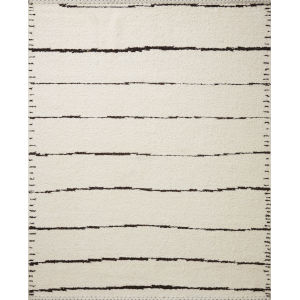 Roman Ivory and Black 2 Ft. x 3 Ft. Area Rug