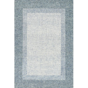 Rosina Aqua 2 Ft. 6 In. x 7 Ft. 6 In. Hand Tufted Rug