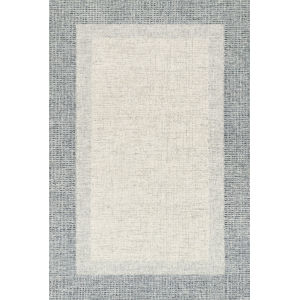 Rosina Gray and Blue 2 Ft. 6 In. x 9 Ft. 9 In. Hand Tufted Rug