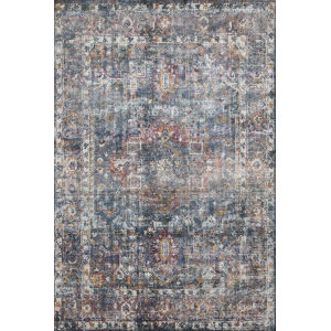 Rumi Navy Multicolor Rectangle: 2 Ft. x 3 Ft. Rug