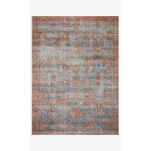 Sebastian Ocean and Spice Rectangle: 6 Ft. 7 In. x 9 Ft. 4 In. Rug