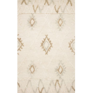 Symbology Ivory with Slate Rectangle: 5 Ft. x 7 Ft. 6 In. Rug