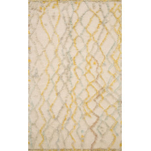 Symbology Ivory with Multicolor Rectangle: 3 Ft. 6 In. x 5 Ft. 6 In. Rug