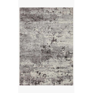 Theory Charcoal and Gray Runner: 2 Ft. 7 In. x 10 Ft. 10 In.