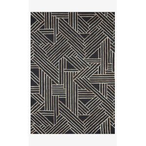 Verve Charcoal and Neutral Rectangle: 7 Ft. 9 In. x 9 Ft. 9 In. Rug