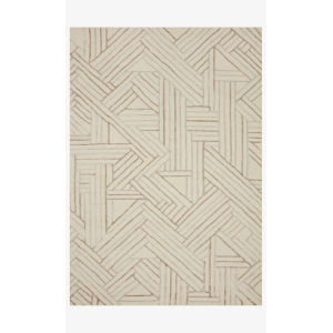 Verve Ivory and Oatmeal Rectangle: 7 Ft. 9 In. x 9 Ft. 9 In. Rug