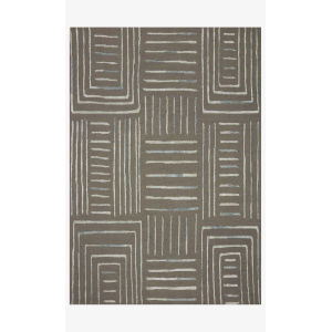 Verve Gray and Mist Runner: 2 Ft. 3 In. x 9 Ft. 9 In.
