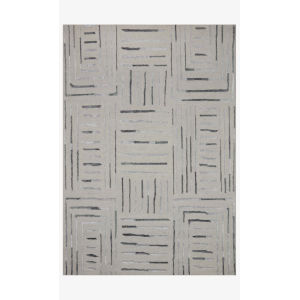 Verve Silver and Slate Rectangle: 7 Ft. 9 In. x 9 Ft. 9 In. Rug