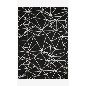 Verve Black and Ivory Runner: 2 Ft. 3 In. x 9 Ft. 9 In.