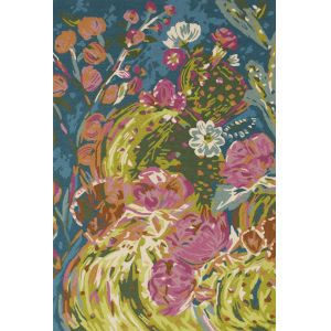 Wild Bloom Multicolor 7Ft. 10In. x 7Ft. 10In. Round  Rug