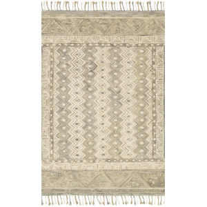 Zharah Sand and Ivory 5 Ft. x 7 Ft. 6 In. Hooked Rug
