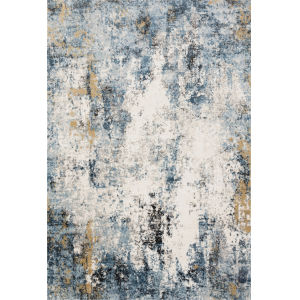 Alchemy Denim and Ivory 1 Ft. 6 In. x 1 Ft. 6 In. Square Rug