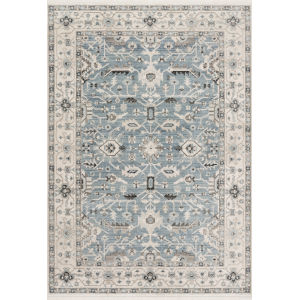 Athena Sky and Ivory 2 Ft. 6 In. x 7 Ft. 5 In. Power Loomed Rug