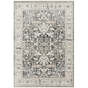 Athena Gray and Sky 3 Ft. 3 In. x 4 Ft. 10 In. Power Loomed Rug