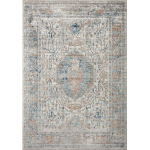 Bianca Stone and Blue 7 Ft. 11 In. x 10 Ft. 6 In. Area Rug