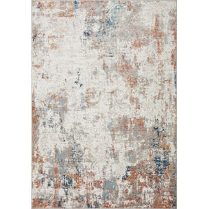Bianca Ivory, Spice and Blue 9 Ft. 9 In. x 13 Ft. 6 In. Area Rug