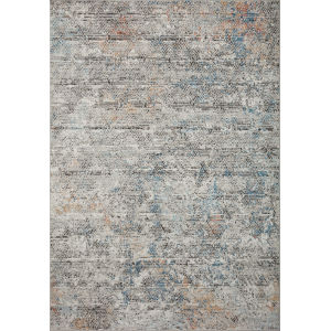 Bianca Gray, Spice and Blue 9 Ft. 9 In. x 13 Ft. 6 In. Area Rug