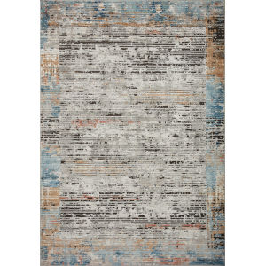 Bianca Ash Gray, Spice and Blue 9 Ft. 9 In. x 13 Ft. 6 In. Area Rug