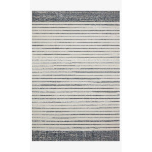 Hagen White and Ocean Rectangular: 2 Ft. 7 In. x 7 Ft. 8 In. Area Rug