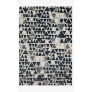 Hagen Slate and Denim Rectangular: 2 Ft. 7 In. x 7 Ft. 8 In. Area Rug