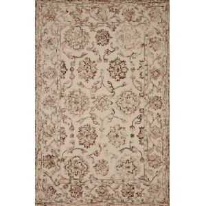 Halle Taupe Rust Rectangular: 3 Ft. 6 In. x 5 Ft. 6 In. Rug